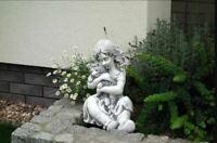 42cm Deko Skulptur Design Figur Statue Garten Figuren Statuen Skulpturen S101136