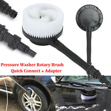 """Pressure Washer Rotary Brush + 3/8"""" Quick Connector For Black & Decker Bosch AQT"""