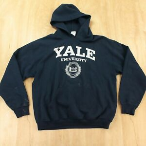 vtg GILDAN hoodie sweatshirt MEDIUM Yale University ivy college usa 90 00s y2k