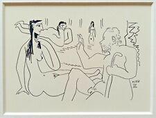 PICASSO Lithographie Edition Madoura 1962 : Les Déjeuners 22.8.61 - VII