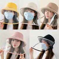 Anti-saliva Protettivo Cappello da pescatore e Viso Scudo Trasparente Cover