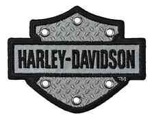 Harley-Davidson Embroidered Bar & Shield Reflective Emblem, SM Size EM200062