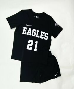 Nike Dry Park 20 Soccer Jersey And Short Set Youth M L XL Black CD2244