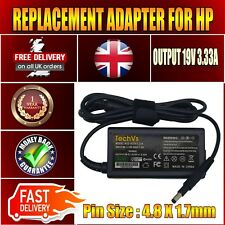 REPLACEMENT TECHVS ADAPTER FOR HP 14-B001EIA NOTEBOOK 19.5V 3.33A CHARGER UK