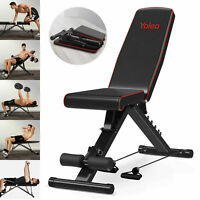 Training Weight Bench Adjustable Flat Incline&Decline Workout Fitness Exercise