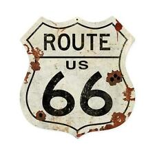Route US 66 Shield With Bullet Holes Vintage Sign Tin Metal Steel Sign 15x15