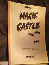 FLIPPER Magic Castle ORIGINALE SCHEMI ELETTRICI schemi manuale Zaccaria