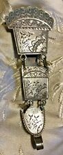 Cut Coin Silver Chatelaine Clip True Antique Victorian Aesthetic Movement Bright