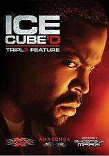 Ice CUBE'D Triple Feature (DVD) ANACONDA XXX GHOST MARS SHIP FAST NO CASE NO ART
