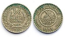 1/2 Piastre 1921. État de Syrie. Administration Française