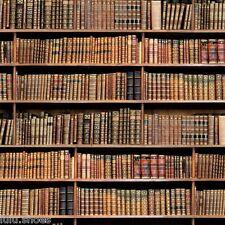 "BOOKSHELF BOOK Fabric Curtain Upholstery Cotton Material digital books 55"" wide"