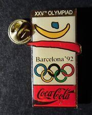 Coca Cola Olympiad games Barcelona 92 enamel pin badge
