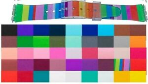 35 DIFFERENT COLOURS OF SWATCH TYPE SILICONE NON CRACK WATCH STRAP SUPER SOFT