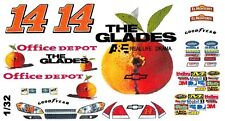#14 Tony Stewart GLADES 2011 1/32nd Scale Slot Car Waterslide Decals