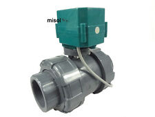"motorized pvc valve 12V, DN50 (BSP, 2""), PVC valve, 2 way, electrical valve,CR01"