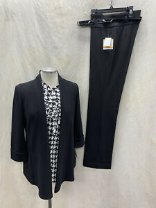 """KASPER PANT SUT/BLACK/NOT LINED//SIZE 4/NEW WITH TAG/INSEAM 32""""/RETAIL$240/"""