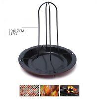 UK 1set Chicken Roaster Upright Holder Rack Non-stick BBQ Baking Pan Grilling