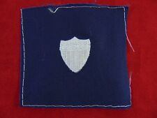 Original U.S. Coast Guard Blue Cotton Sleeve Shield Insignia Patch