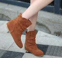 Sweet Womens Slouch Ankle Pull On Bohemia Stylish Flat Casual Spring Shoes Boots