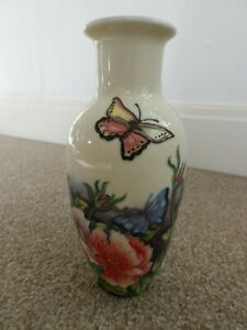 BUTTERFLY AND FLOWER DESIGN VASE,OLD TUPTON WARE.NEW +BOX.CRAZY CLEARANCE