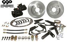 78-87 Buick Regal G-Body Rear Disc Brake Conversion Kit Plain Rotors Blk Caliper