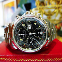 MAURICE LACROIX Chronograph 39721Day-Date Stainless Steel Automatic Men's Watch