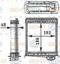 Wärmetauscher Innenraumheizung - Hella 8FH 351 311-751