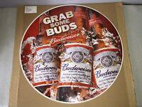 "BUD Iconic Floor Decal Sticker ""Grab Some Buds"" Budweiser ~ 24"" Diameter ~ Round"