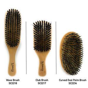 Club  Hair Brush, Wave Hair Brush, Curved Oval Palm Brush Boar Bristles Brush 1