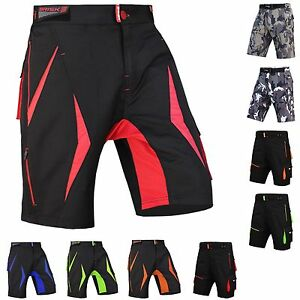 MTB Shorts Men's Bicycle Pants Detachable Compression Padded Shorts Included