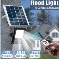 10W 20LED Solar Flood Light Outdoor Garden Street Path Yard Lamp+Remote Control