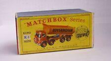 REPRO BOX MATCHBOX KING SIZE K - 1 Hoveringham Tipper