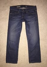 AG ADRIANO GOLDSCHMIED JEANS TOMBOY CROP RELAXED STRAIGHT BOYFRIEND 25