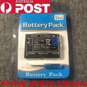 New Rechargable Battery Pack for Nintendo 3DS 3.7V 2000mAh CTR-003