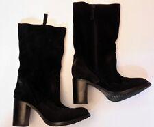 Gamloong  Womens Boots Zip Up Mid Calf Black suede Boot EU 37 UK4