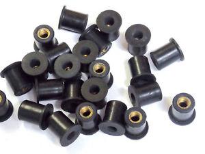 25 Quantity - M5 Rubber Well Nut Windscreen & Fairing 10mm 3/8 Wellnuts