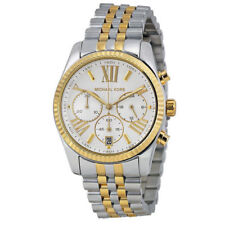 MICHAEL KORS MK5955 Lexington Chronograph Mother of Pearl Two Tone Ladies Watch