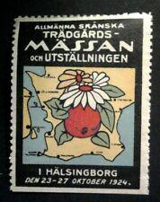 Cinderella Poster Stamp Reklamemarken-Sweden-Massan och Utstallningen 1924-MNH
