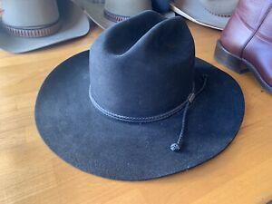 Vintage STETSON 4X Black Cowboy Hat Size 7 1/2 Large