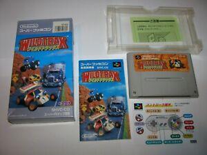 Wild Trax (Stunt Race FX) Super Famicom SFC Japan boxed complete US Seller