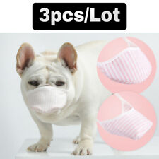 3pcs Dog Muzzles Pet Safety Anti Bark Bite Mouth Cover Small Medium Dogs Bulldog