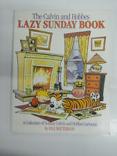 Lazy Sunday Book Calvin and Hobbes by Bill Watterson inglese kf1