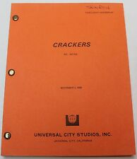 Crackers * 1982 Movie Script * starring actor Donald Sutherland from MASH