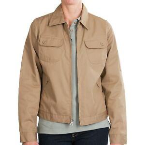 Dickies Womens Heritage Jacket M L XL Desert Sand Cotton Poly Twill Work Uniform
