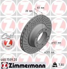 ZIMMERMANN Bremsscheibe Bremse COAT Z Hinten Links für Porsche 911 3.3 Turbo