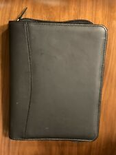 Franklin Planner Classic Top Grain Leather 7 Ring Black