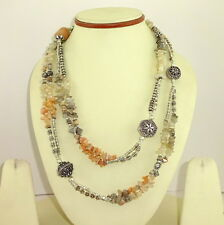 NECKLACE NATURAL MULTI MOONSTONE GEMSTONE BEADED HANDMADE CHIPS 100 GRAMS
