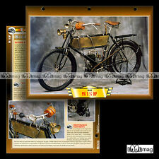 #132.08 Fiche Moto FN FABRIQUE NATIONALE 200 1 ¾ HP 1903 Classic Motorcycle Card