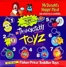 1998 McDonalds Tamagotchi MIP Complete Set - Lot of 8, Boys & Girls, 3+