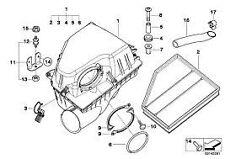 Air Filter Genuine BMW 5 Series E60 520d N47 Engine